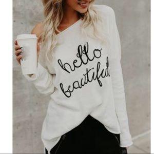 Sweaters - Off the shoulder pullover sweatshirt